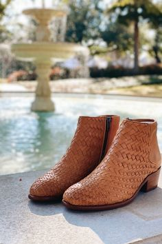 An artisanal take on classic Western style. Woven by hand from soft, full grain leather, this pull-on bootie is an example of Frye's unparalleled craftsmanship. With PORON footbeds to deliver long-lasting comfort every step of the way, the bootie is fully lined in leather so you can wear with or without socks.