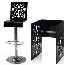 If It's Hip, It's Here: Acrila - Modern Acrylic Furniture That Goes From Baroque To Pop Art.
