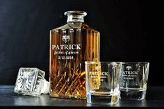 8 Sets  Groomsmen Gift Personalized Whiskey by AnnaEngraving