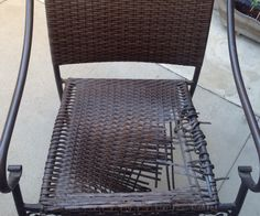 $1 Patio Chair Seat Repair - I just added the instructions on Instructables.com, Check it out and give it a vote if you dig it!