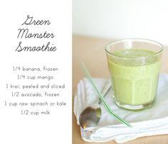 Sunshine Flavors: Green Monster Smoohie