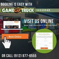 Ready to host your first GameTruck video game party? Booking online is simple. Visit the GameTruck Savannah website or give us a call at (912) 877-6555. From there, you can book your party online or request a quote! We look forward to making your next birthday party or corporate event a success! https://www.gametruckparty.com/savannah