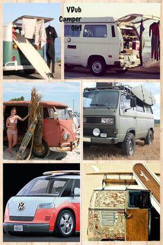 VW surf bus, campervan, Volkswagen by VDub Camper Girl