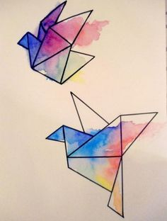 Origami drawing illustrations sketch Super Ideas Very best Origami Papers Origami is one regarding the most delicate … Cool Art Drawings, Art Drawings Sketches, Easy Drawings, Drawing Ideas, Geometric Drawing, Geometric Art, Illustration Sketches, Watercolor Illustration, Doodle Art