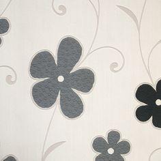 Diseño con flores en este papel pintado de la colección Delight de PS International.