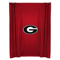 Georgia Bulldogs COMBO Shower Curtain U0026 4 Pc Towel Set   Bathroom Decor