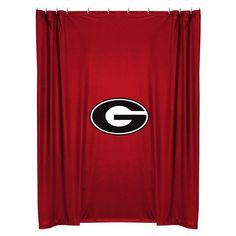High Quality Georgia Bulldogs COMBO Shower Curtain U0026 4 Pc Towel Set   Bathroom Decor