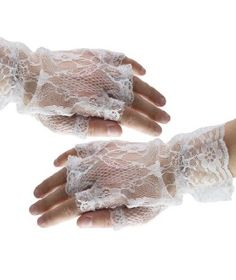 The major fashion icon Madonna, brought theese fingerless gloves into the 80s fashion. In different materials, such as leather and lace.