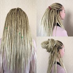 25/303 CROCHET OMBRE DREADS full set double ended dreadlocks.