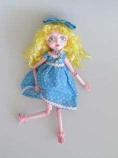 SARAH puppet style clay ball jointed DOLL Ooak by Kaeriefaerie52, $75.00