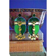 vert velvet earrings
