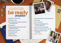 UT Tyler Be Ready Checklist