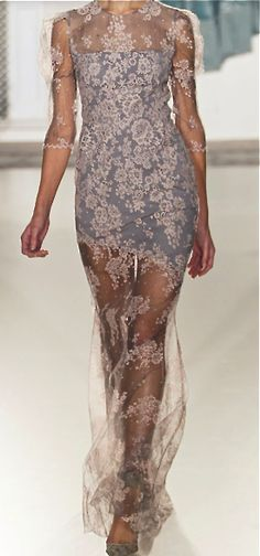 reminds me a little of my spider dress; stretchy lace over little under dress : : Erdem