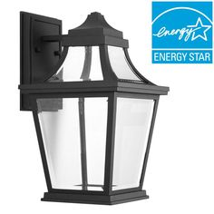 Progress Lighting Endorse Collection 1-Light Black LED Wall Lantern-P6057-3130K9 - The Home Depot