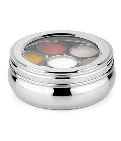 Loved it: Airan Stainless Steel Spice Container (big), http://www.snapdeal.com/product/airan-stainless-steel-spice-container/133890988
