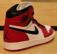 Air Jordan 1 White/Red/Black 2013