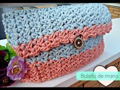 Bolso de mano de ganchillo - Easy Crochet HandBag - Tutorial paso a paso - YouTube