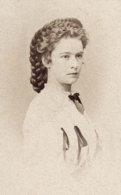 Empress Elisabeth (Sissi) of Austria in her iconic hairstyle
