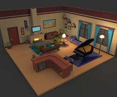 """Fiz uma sala desta vez. #magicavoxel #voxelart"""