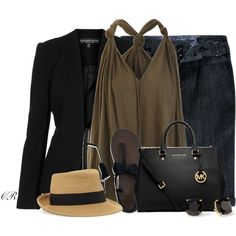 """""""Black & Brown"""" by colierollers on Polyvore"""