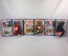 Ty Teenie Beanie Babies Dinosaur Trio Rex Steg Bronty 2000 McDs Original Premium  | eBay
