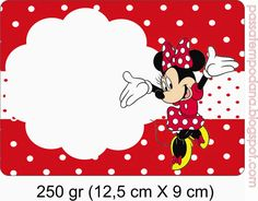 Minnie Red and White Polka Dots: Free Printable Invitations and Candy Bar Labels. Mickey E Minnie Mouse, Minnie Mouse Clubhouse, Disney Cards, Disney Fun, Minnie Birthday, Baby Birthday, Free Printable Invitations, Printables, Scrapbook Da Disney