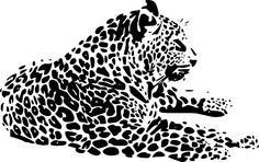 Dekorační samolepka na zeď : Gepard 2 ( 20 cm x 32 cm )