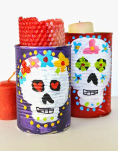 Plenty of Paprika: Day of The Dead Tin Can Candle Holder