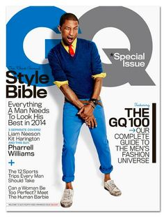 Pharrell Williams en la portada de Abril 2014 de GQ