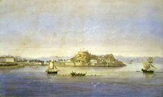 Joseph Schranz (1803-1853)-View of Corfu, 1826
