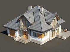Zdjęcie projektu Opałek II N Outside House Paint, House Outside Design, Modern Bungalow House, Modern Mansion, Duplex Design, Modern House Design, Building Design, Building A House, New Model House