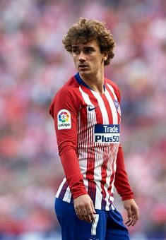 MADRID, SPAIN - FEBRUARY Antoine Griezmann of Atletico de Madrid looks on during the La Liga match between Club Atletico de Madrid and Villarreal CF at Wanda Metropolitano on February 2019 in Madrid, Spain. (Photo by Quality Sport Images/Getty Images) Soccer Guys, Soccer Players, Football Soccer, Antoine Griezmann, Villarreal Cf, Dear Future Husband, Sports Images, Sport Man, My Man