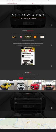 A highly stylised website design for Autoworks Garage, prestige bodywork and car repairs in Carlisle, Cumbria Carlisle Cumbria, Paint Shop, The Prestige, Website, Light Bulb, Web Design, Garage, Carport Garage, Design Web