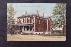 Vintage Postcard of The Vermilion County Jail Danville IL.