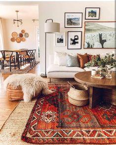 Casa Retro, Retro Home, Boho Living Room, Living Room Decor, Bohemian Living, Cozy Living, Decor Room, Bohemian House, Bohemian Bag