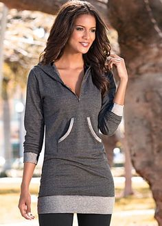Hooded tunic from VENUS women's swimwear and sexy clothing. Order Hooded tunic for women from the online catalog or Mode Outfits, Fall Outfits, Casual Outfits, Fashion Outfits, Womens Fashion, Look Cool, Swagg, Pull, Lounge Wear