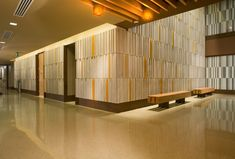 lobby - concrete and wood