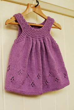 Girl's hand knit tunic top – Hand Knitting Crochet Baby Dress Pattern, Knit Baby Dress, Baby Dress Patterns, Knitted Baby Clothes, Baby Knitting Patterns, Baby Cardigan, Crochet Patterns, Knitting For Kids, Hand Knitting