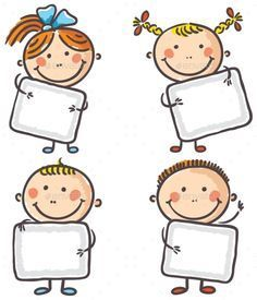 Buy Kids with Blank Signs by katya_dav on GraphicRiver. Four happy kids with blank signs Drawing For Kids, Art For Kids, Crafts For Kids, Classroom Borders, Classroom Decor, Blank Sign, School Frame, Kids Background, School Labels