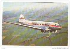 NAC Skliner DC-3 airplane, New Zealand National Airways Corporation 40-60s - Delcampe.com