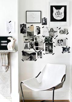 black + white photo collage