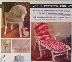 mccalls 3217 chair covers slip covers pattern for folding windsor