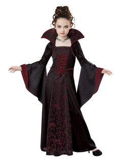 Check out Girls Royal Vampire Costume - Gothic Girls Costumes from Wholesale Halloween Costumes