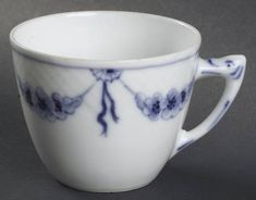 Bing & Grondahl Empire Blue and White Flat Cup