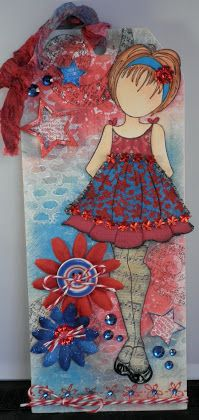 Scrapaddict {4} Life: Playing With Prima Doll Stamps....