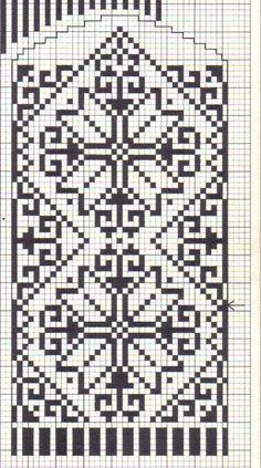 Knitted Mittens Pattern, Fair Isle Knitting Patterns, Knit Mittens, Knitting Charts, Weaving Patterns, Cross Stitch Borders, Cross Stitch Patterns, Crochet Chart, Crochet Patterns