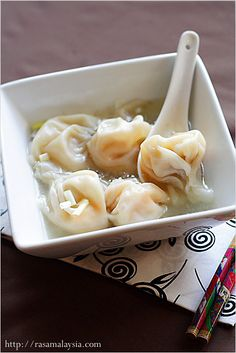 Wonton Soup - this can't compare to the real wonton soup found in Hong Kong, but this is the best and closest I have found!