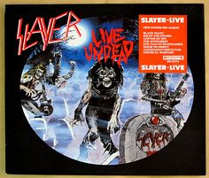 "SLAYER LIVE UNDEAD AXE LABEL 12"" VINYL LP"