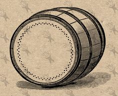 Cask Oak barrel Vintage Old image retro drawing Instant Download Digital printable black and white clipart graphic Burlap Fabric Transfer by UnoPrint on Etsy
