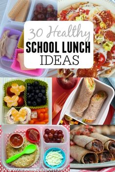 Find lots of healthy school lunch ideas here. 30 healthy back to school lunch ideas that are quick, easy, and kid approved.  #backtoschool #easylunch #lunchideas #kidsinthekitchen #healthylunchideas#healthylunchboxes#bentoboxideas #babyfood #schoollunch #schoollunchideas #health #healthy #healthyrecipes #healthyeating #healthtips